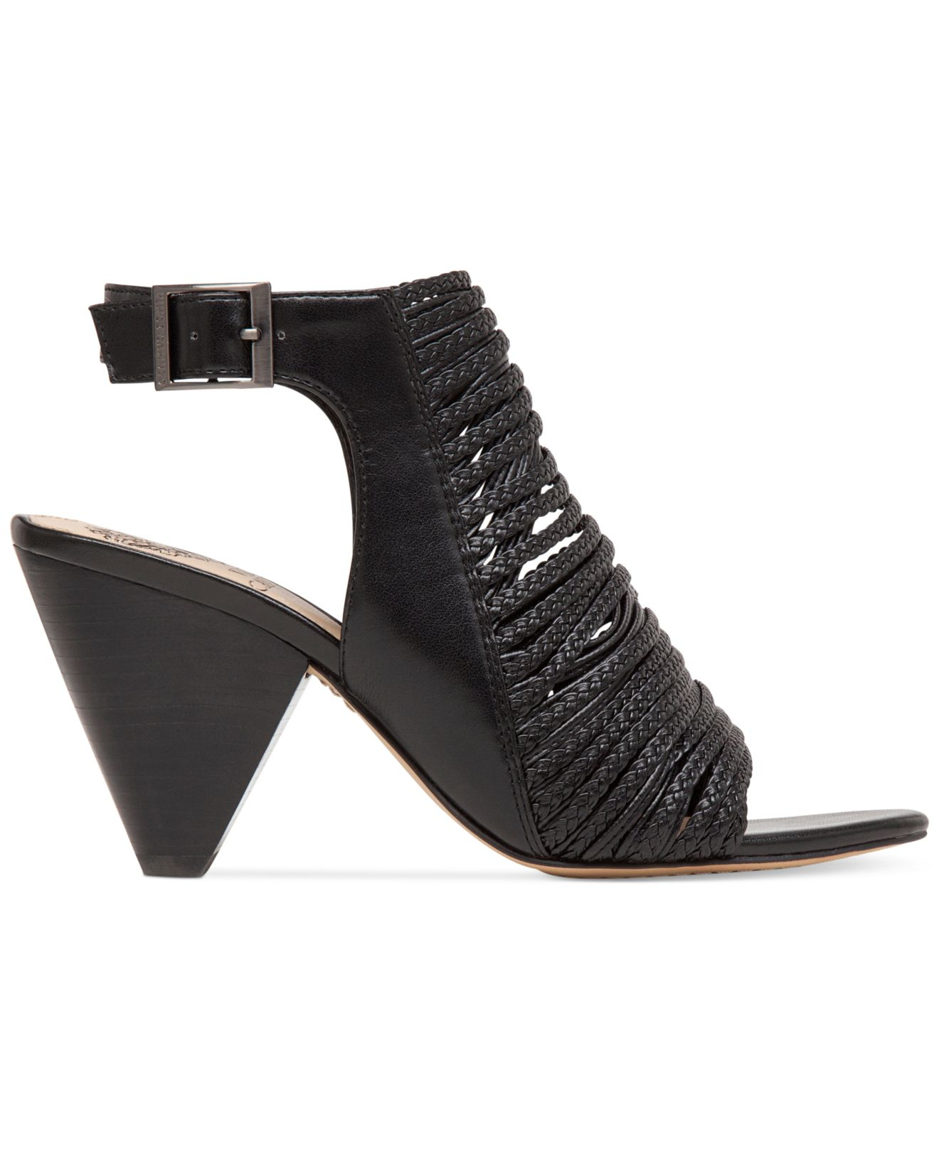 Vince Camuto Entik Braided Dress Sandals In Black Lyst