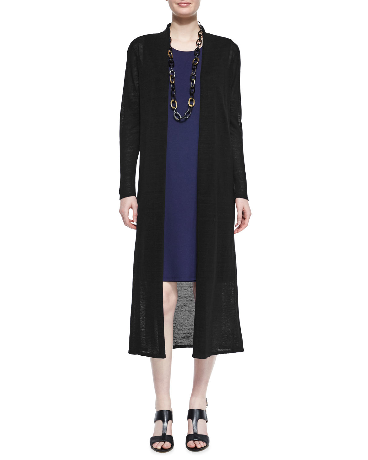Eileen fisher Extra-long Cardigan in Black | Lyst