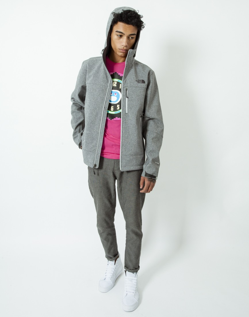 Grey north face hoodie