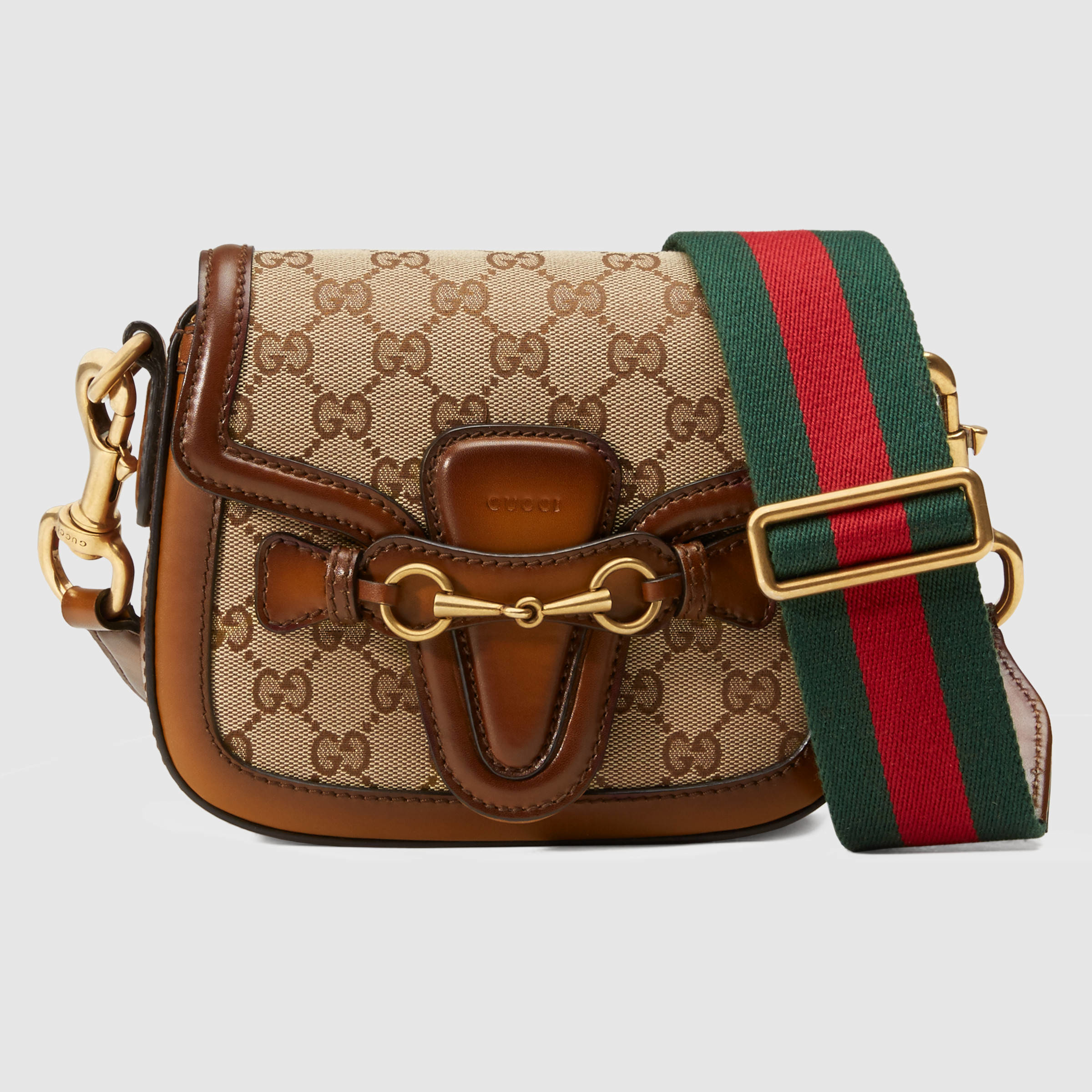 a1f5139432d047 Gucci Lady Web Original Gg Canvas Shoulder Bag in Brown - Lyst