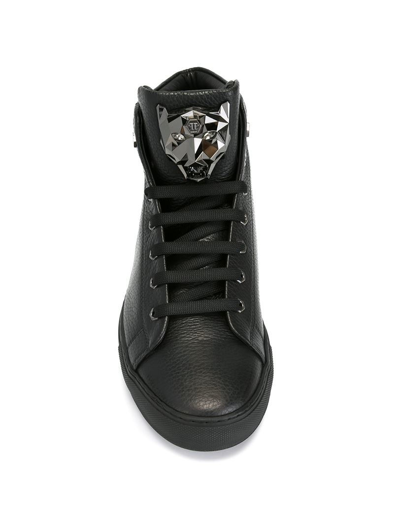254a97dfcf2 Lyst - Philipp Plein Hi-top Sneakers in Black for Men