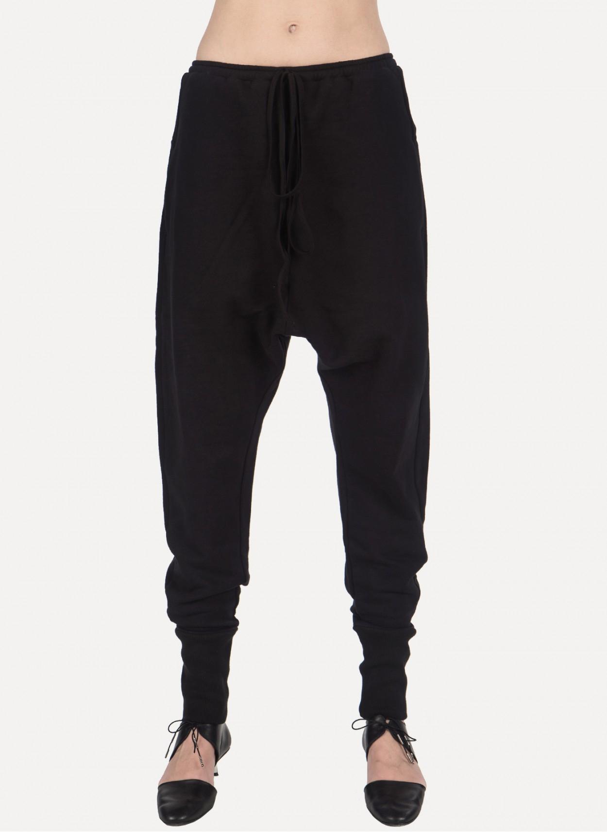Luxury Black Women Pants DropCrotch Women Pants Yoga Pants Loose Pants