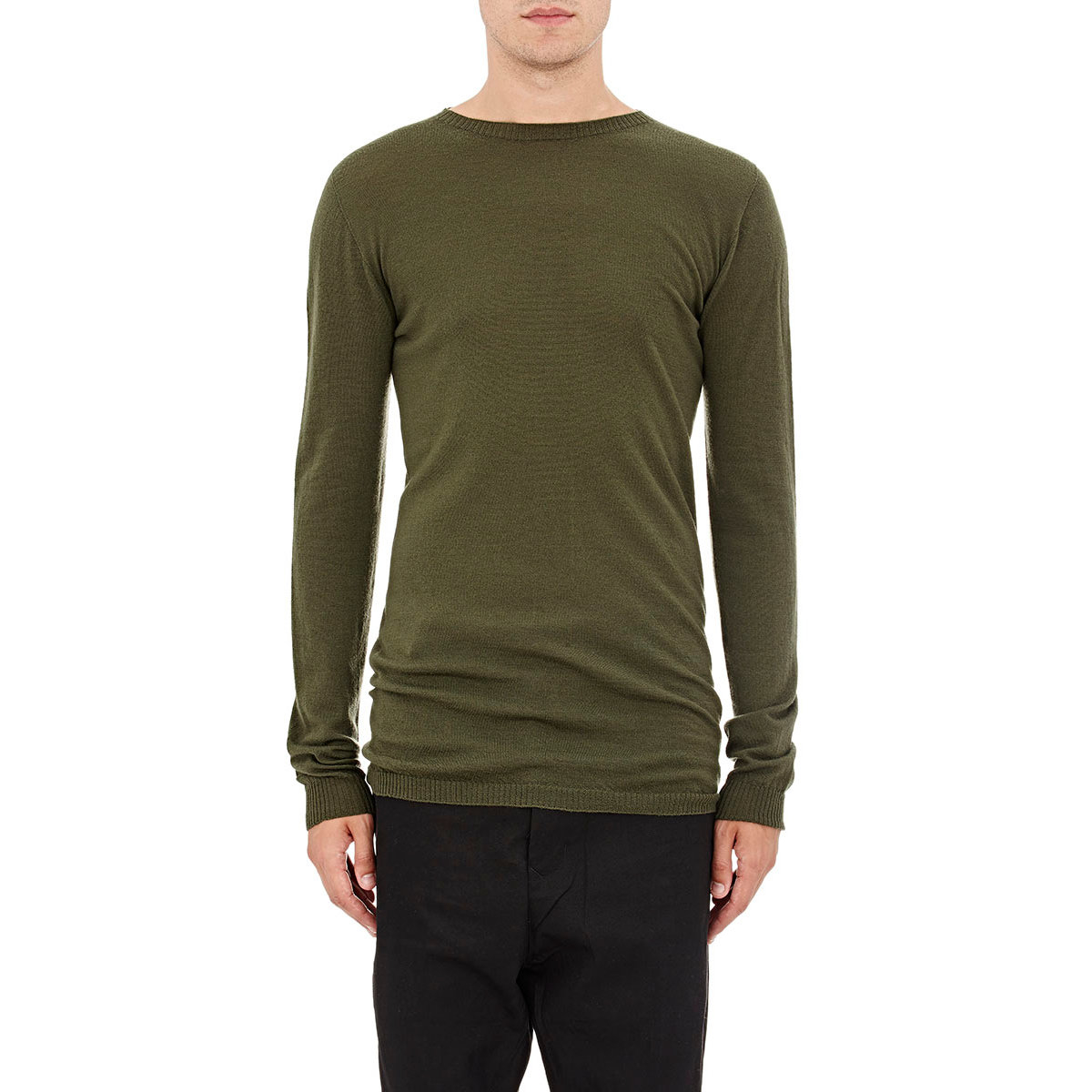 cashmere crew neck jumper - Green Rick Owens Shop For Online Collections Online Buy Cheap Cost GW76yt19e9