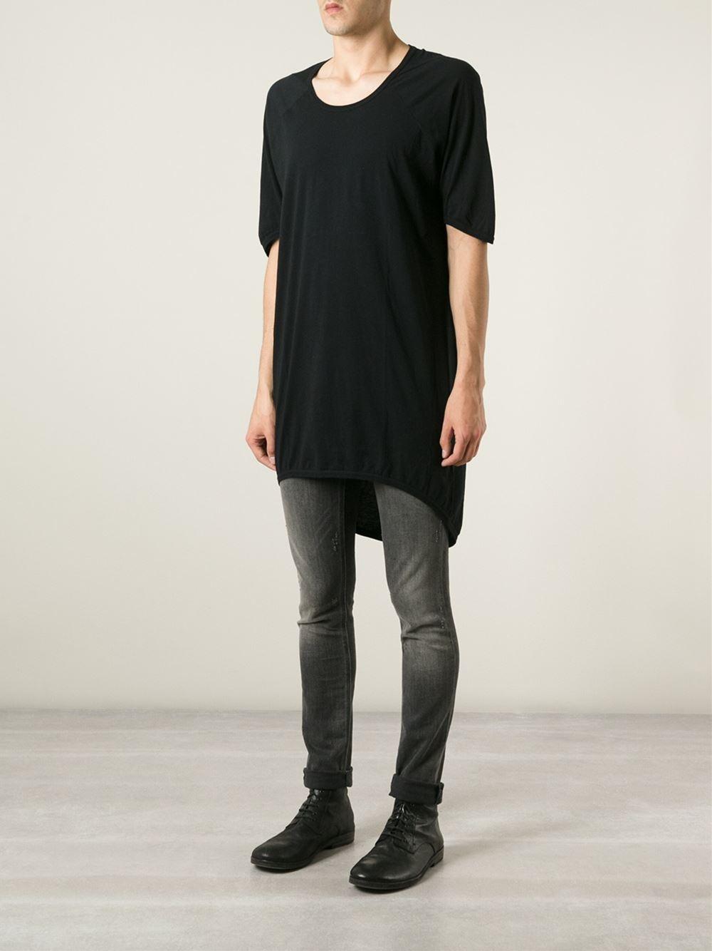 Lyst - Boris Bidjan Saberi Back Print Long T-shirt in Black for Men 5d0c6ab9b33