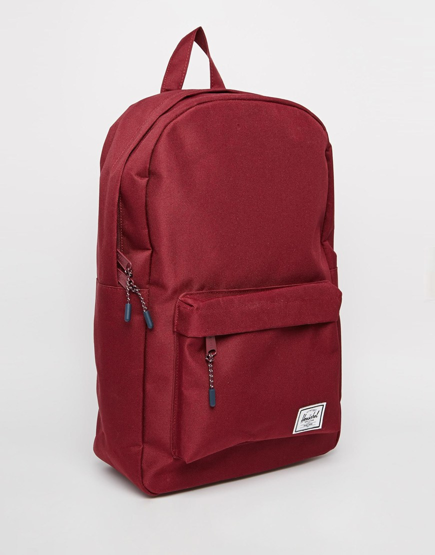 e575f2f87fa Lyst - Herschel Supply Co. Classic Backpack In Burgundy in Red