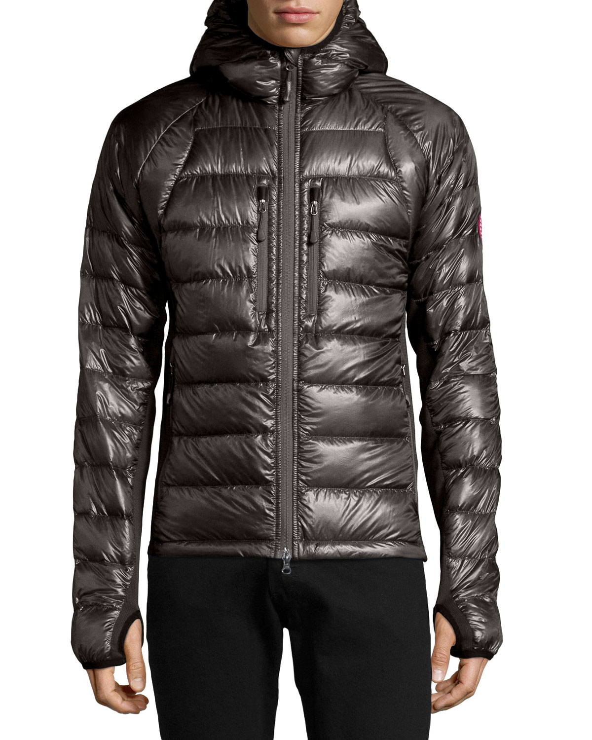 ... canada goose hybridge lite down-filled quilted hooded jacket ...