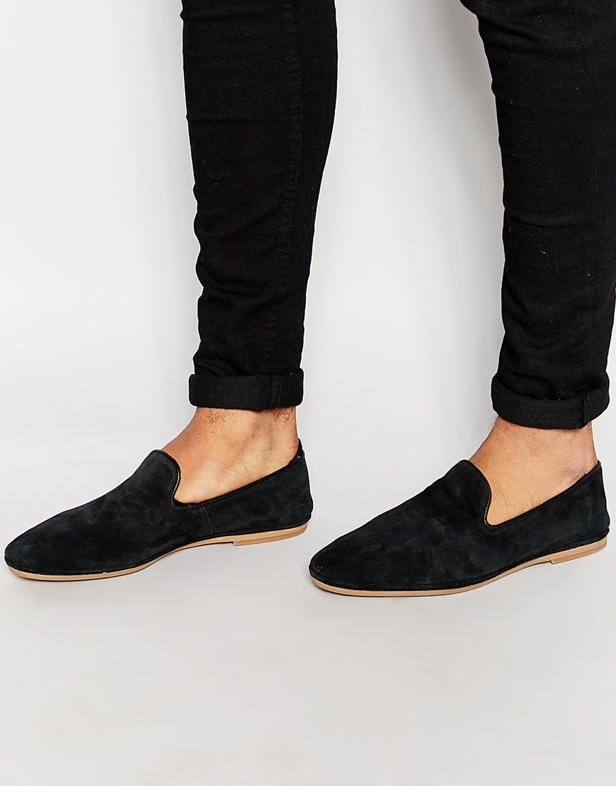 House Of Hounds Suede Tassel Slipper Loafers - Black House Of Hounds XEsrhAAt