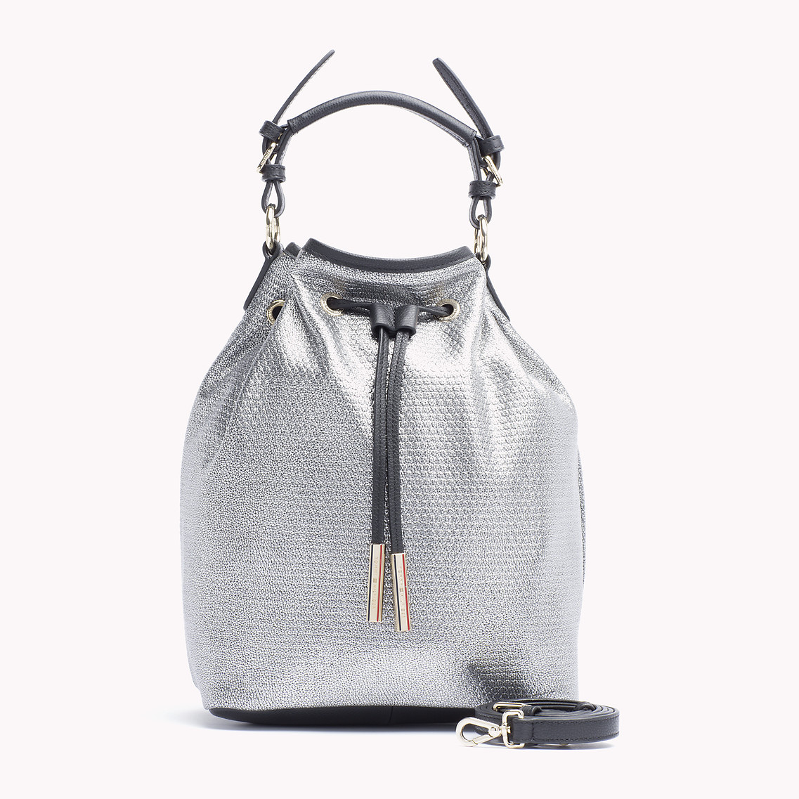 Tommy Hilfiger Silver Bucket Bag in Metallic - Lyst f3e942f711