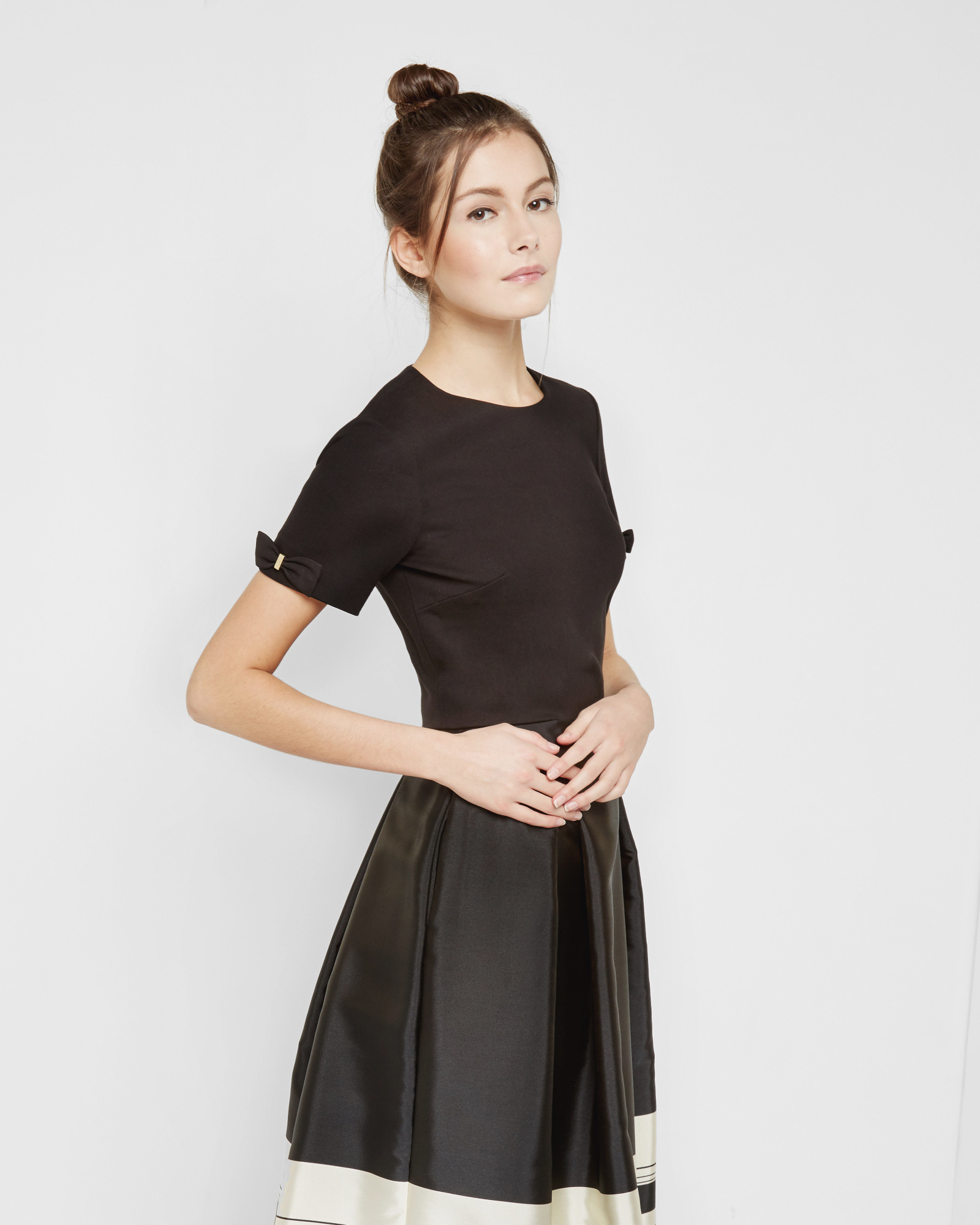 162045ebad9ef1 Ted baker bow detail cropped top in black lyst jpg 1600x2000 Ted baker  cropped top