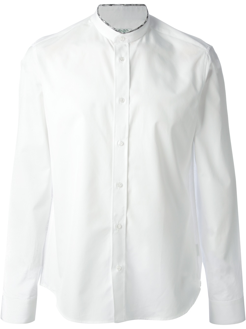 Kenzo button down shirt in white for men lyst for White button down shirt mens