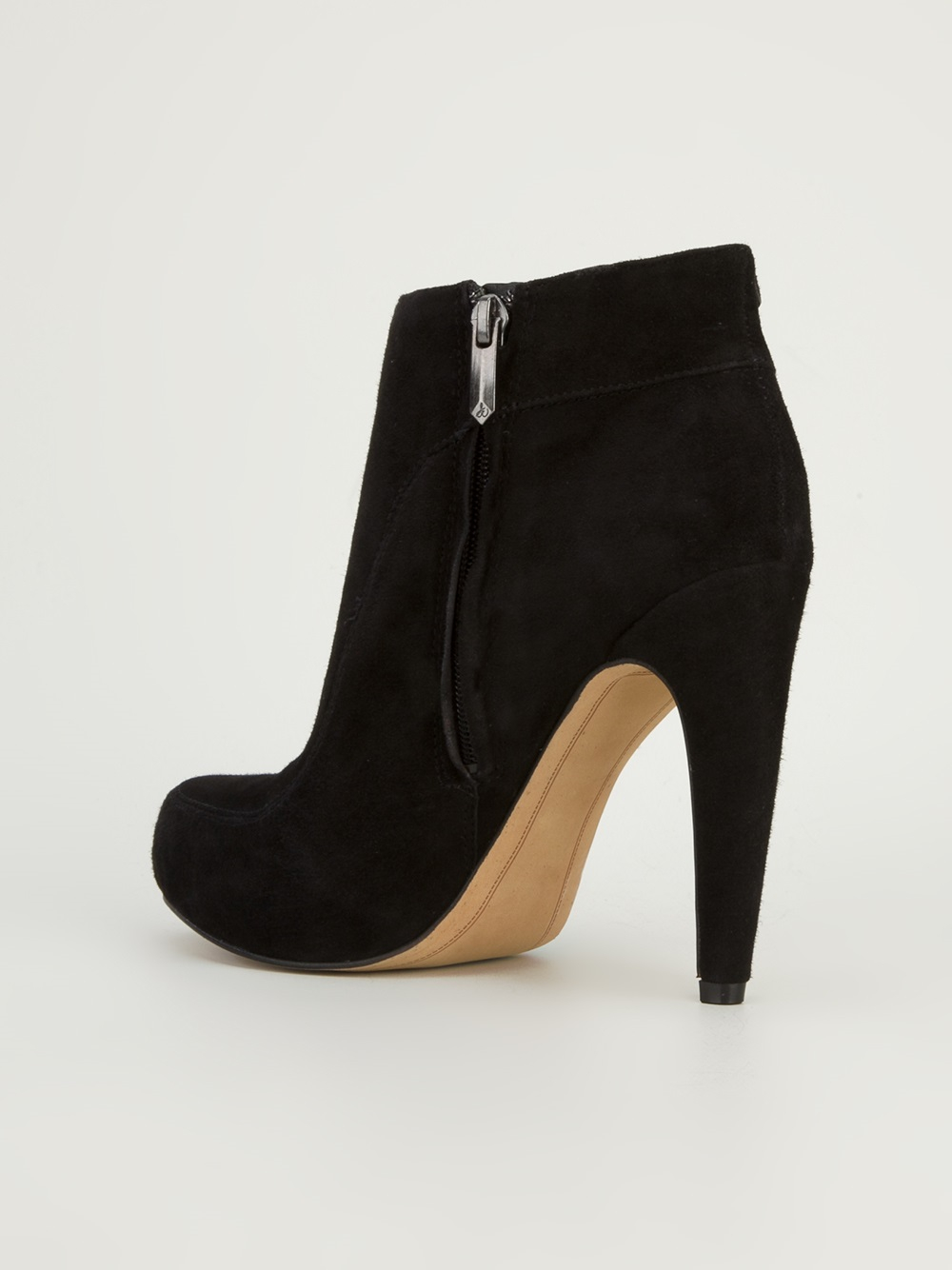 sam edelman suede ankle boot in black lyst
