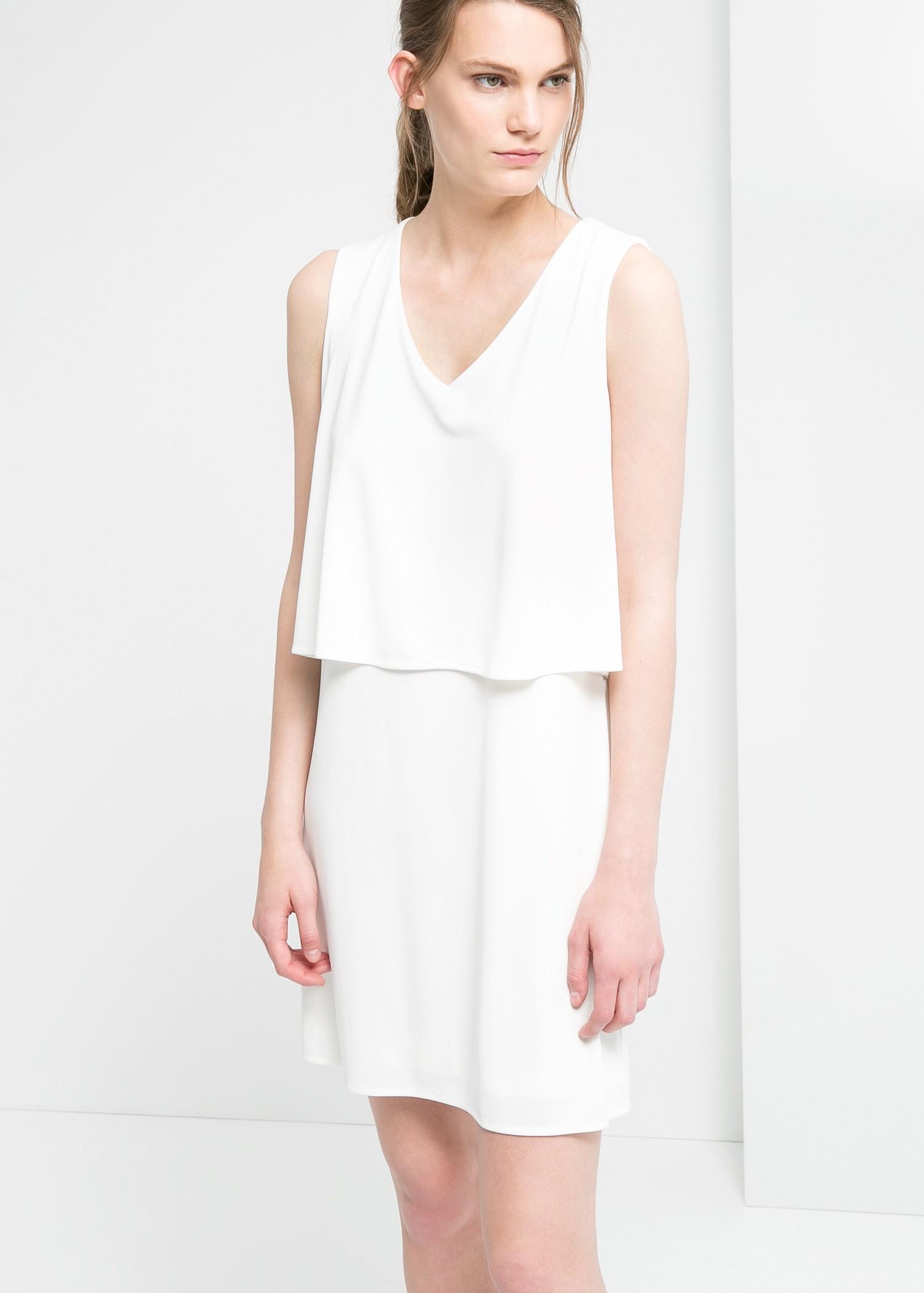 White layer dress