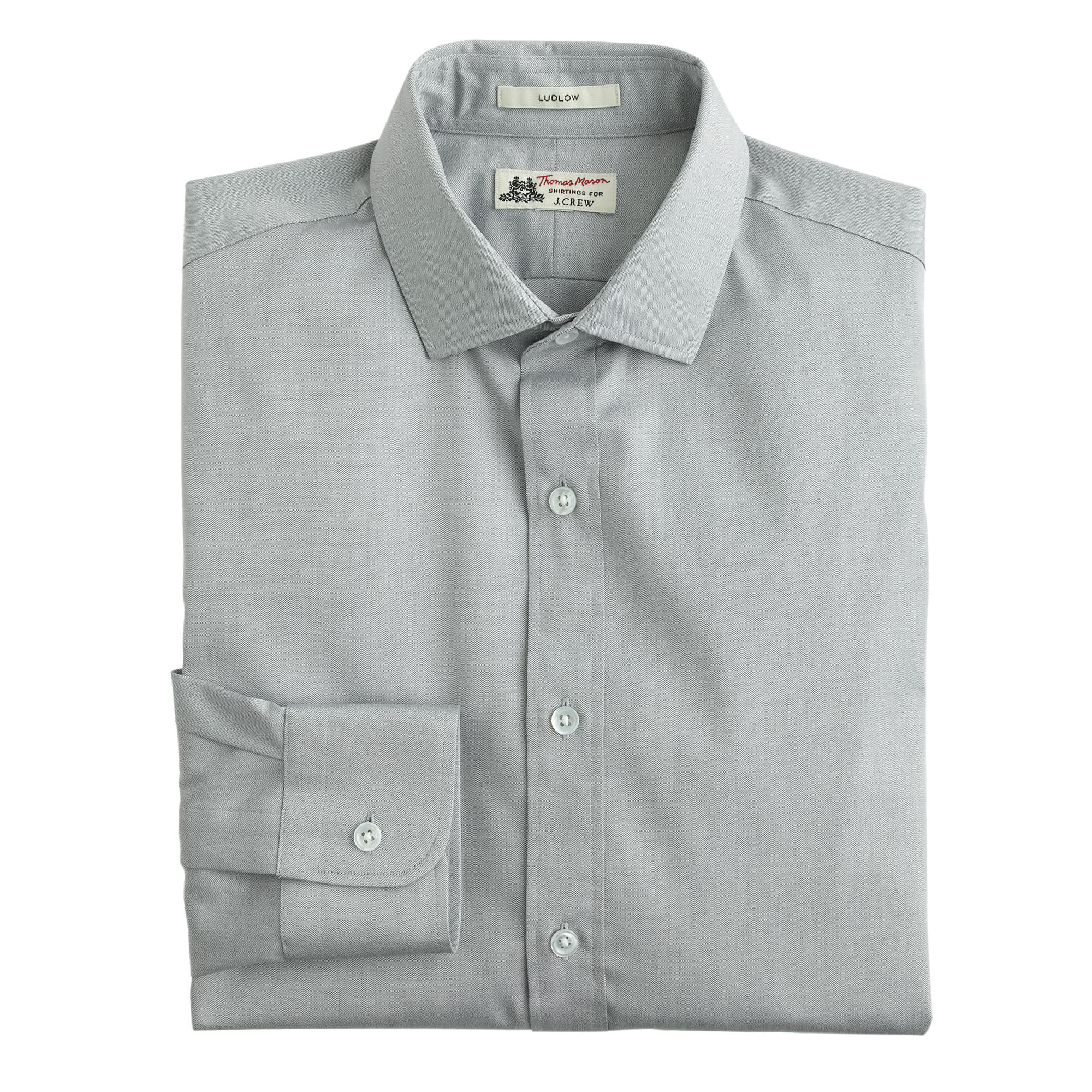 Thomas Mason Ludlow Shirt In Solid In Gray For Men