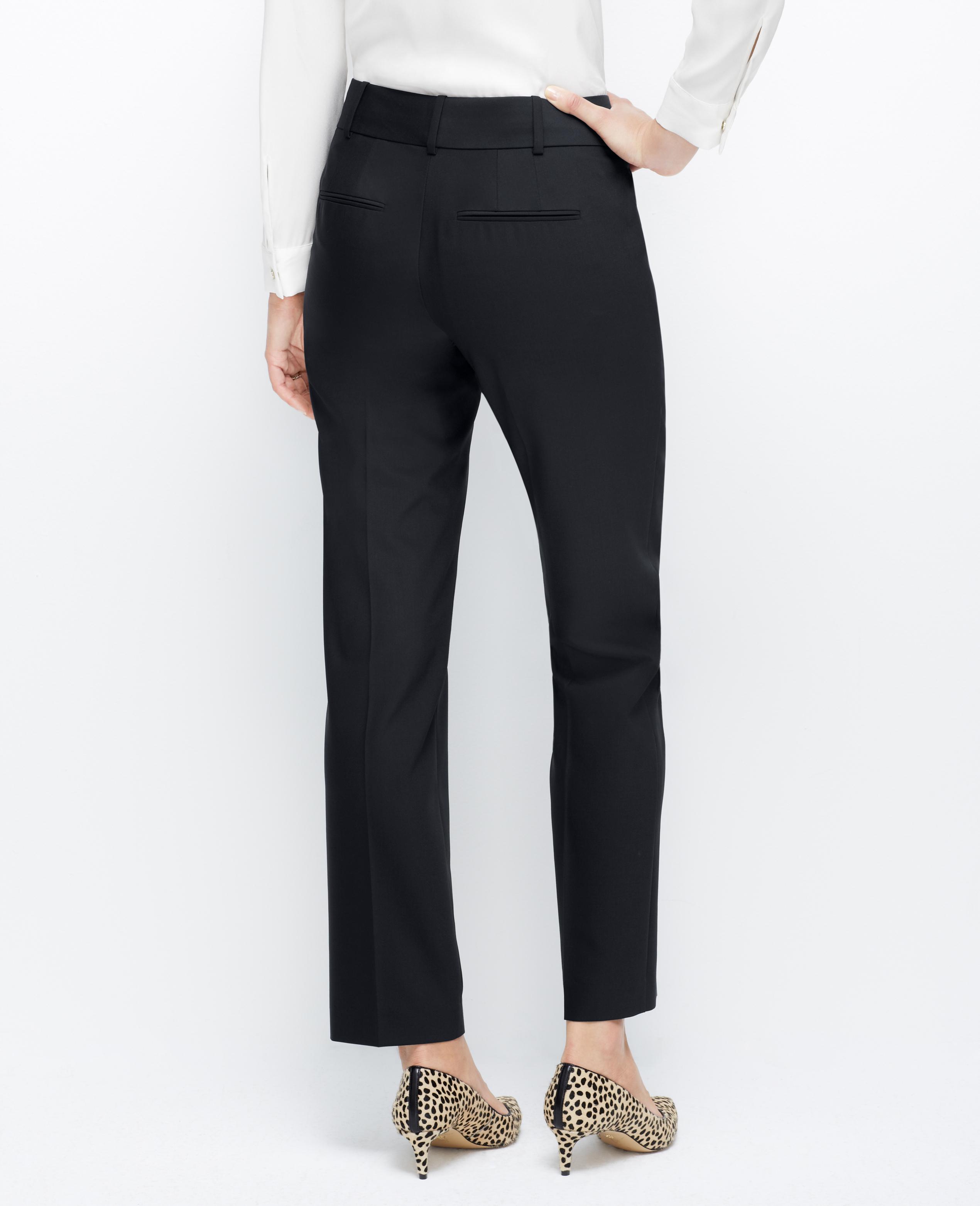 Ann Taylor Petite Curvy Tropical Wool Straight Leg Pants