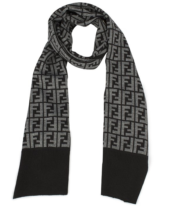 9896cfc8bbb ... coupon code lyst fendi hat and scarf set in grey in gray for men 43215  ac70b