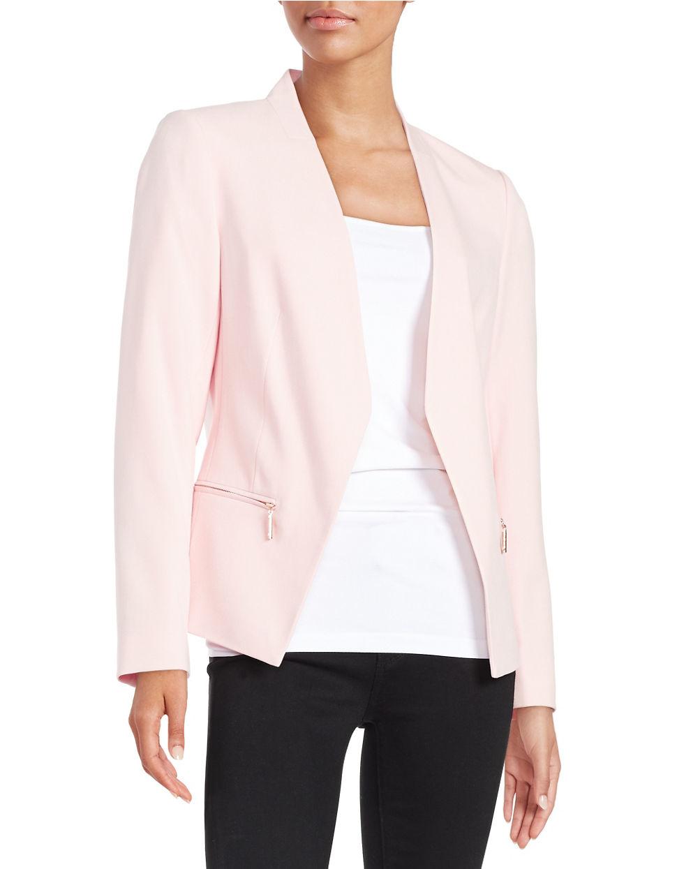 Lyst Ivanka Trump Open Front Blazer In Pink