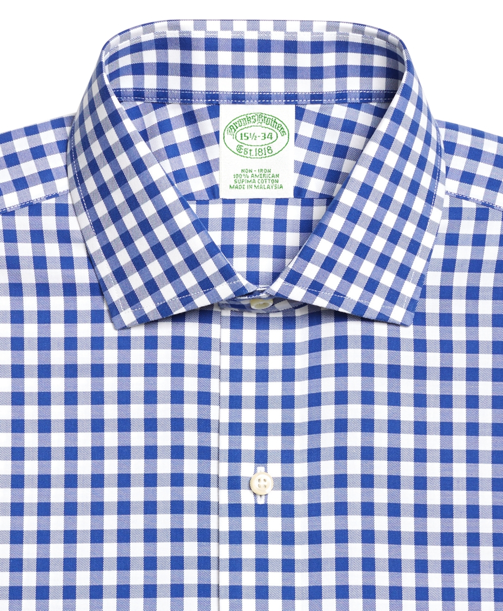 Brooks brothers non iron extra slim fit gingham dress for Extra trim fit dress shirt