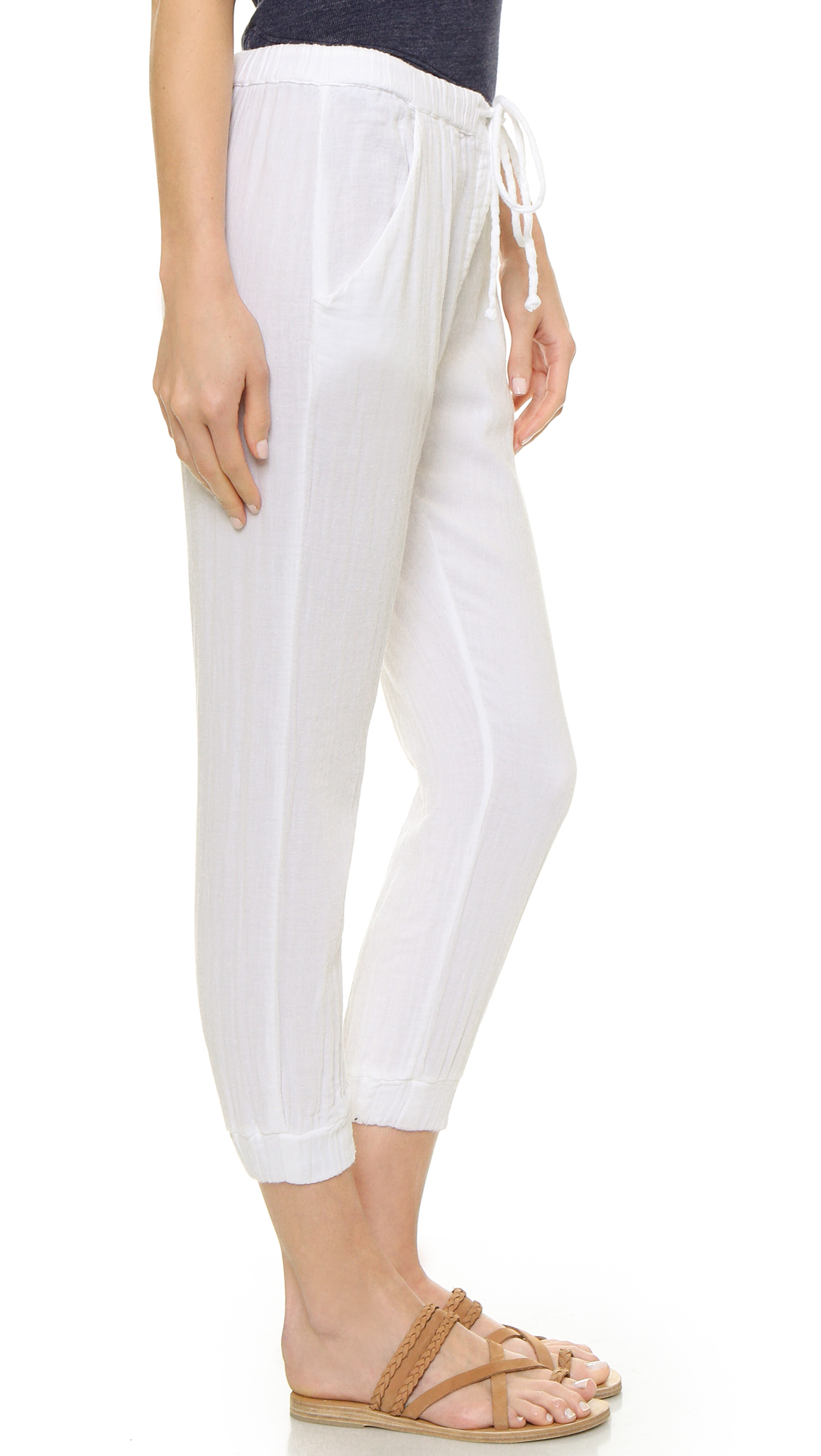 Sundry Gauze Beach Pants - White in White | Lyst