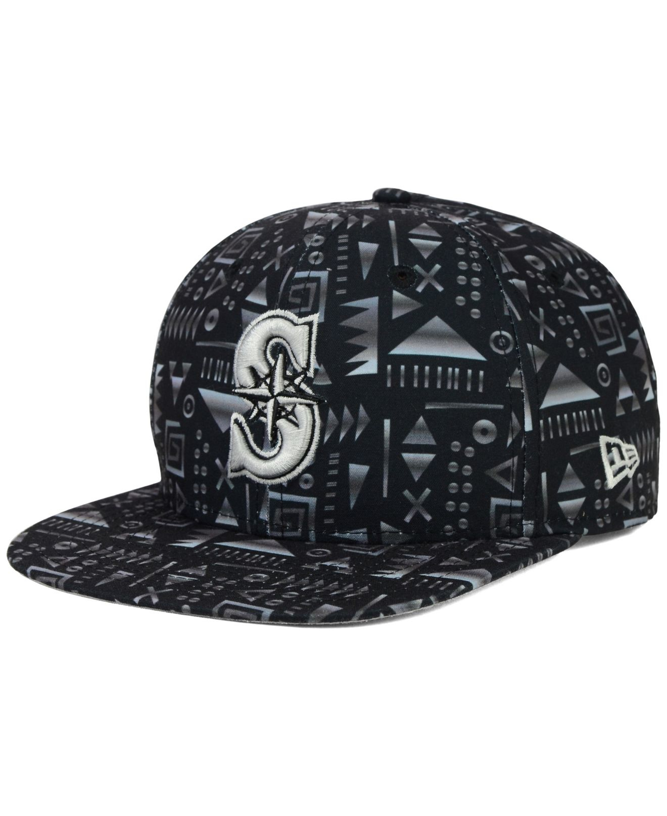 Lyst - KTZ Seattle Mariners Geo 9Fifty Snapback Cap in Black for Men 34386f00917c