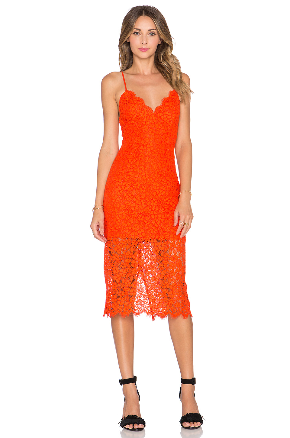 Lyst Bardot Sienna Lace Dress In Red