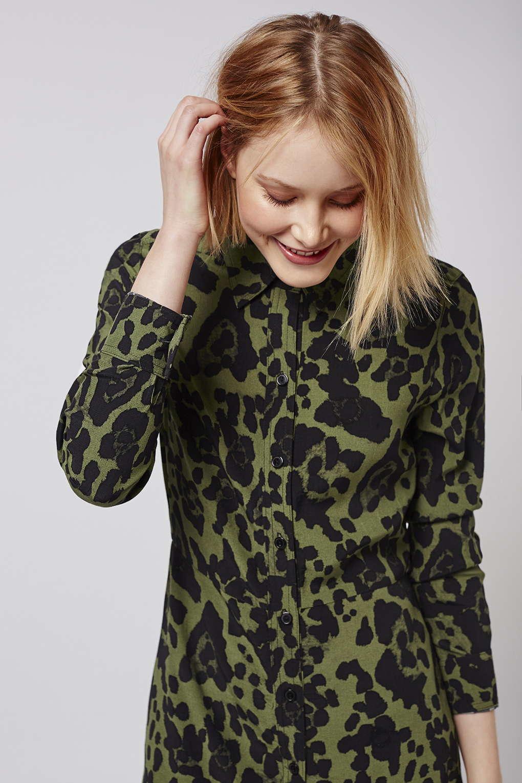 65b01f6ad149 Topshop Floral Print T Shirt Dress   Top Mode Depot