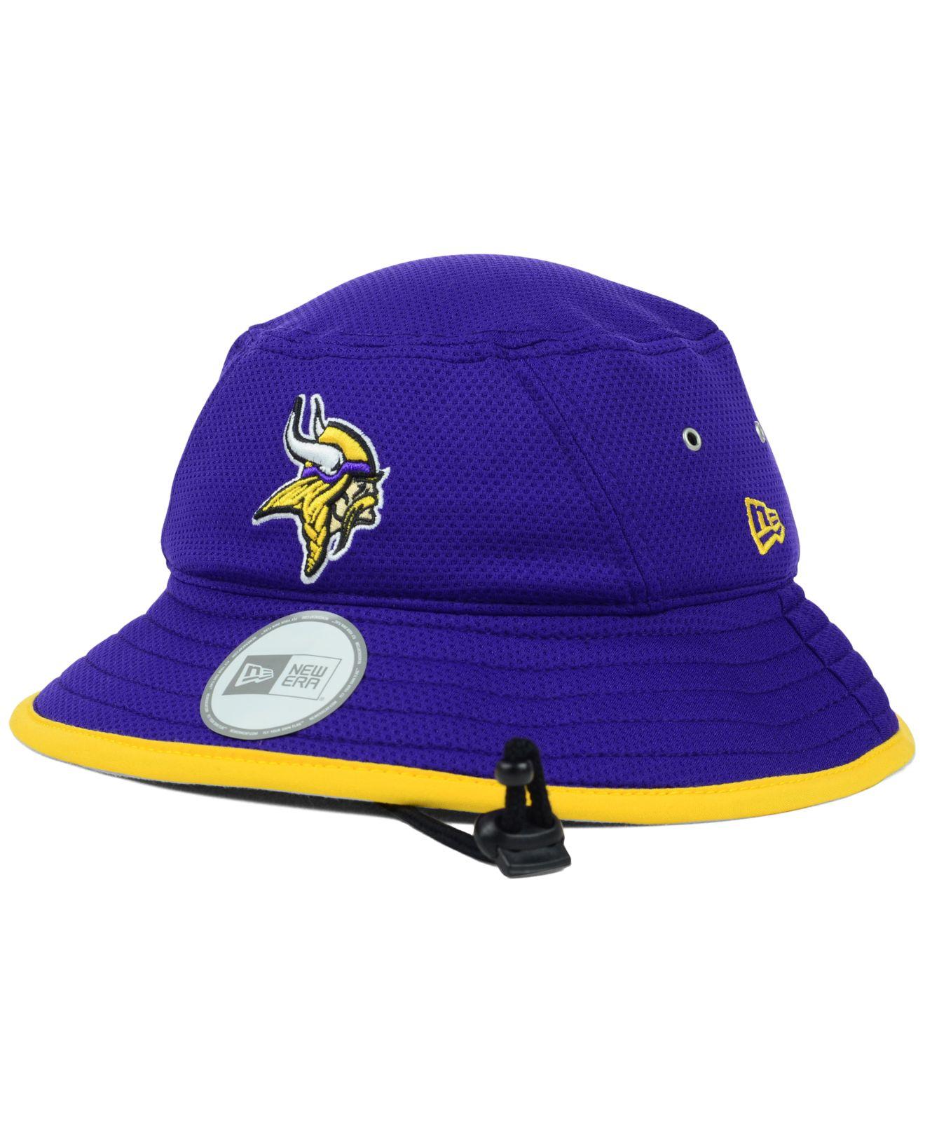 7605f058307 Lyst - KTZ Minnesota Vikings Tc Training Bucket Hat in Purple for Men