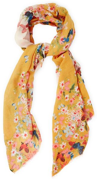 oasis butterfly scarf in yellow yellow multi lyst