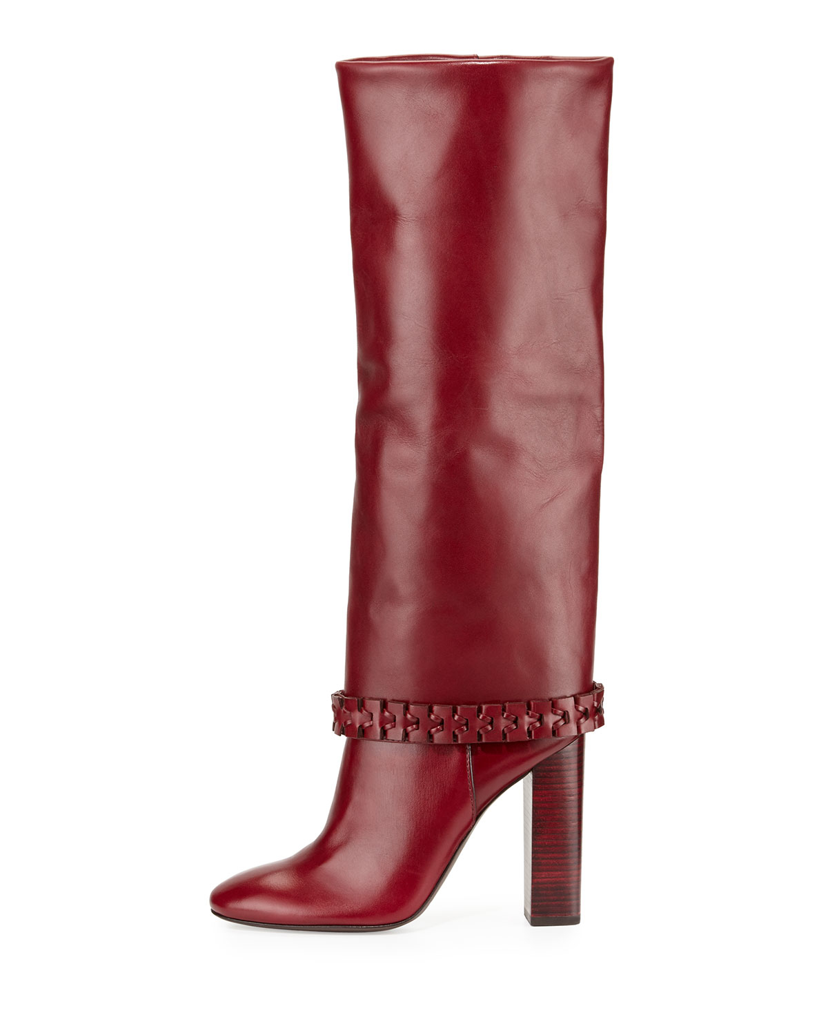 7e9cdc729f5 Lyst - Tory Burch Sarava Leather Knee Boot in Red