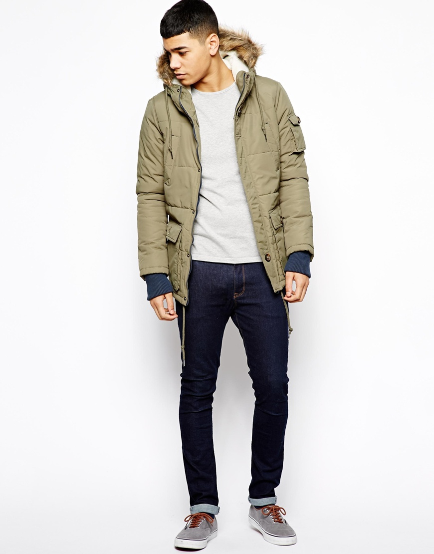 Native youth Arctic Parka Jacket in Green for Men | Lyst