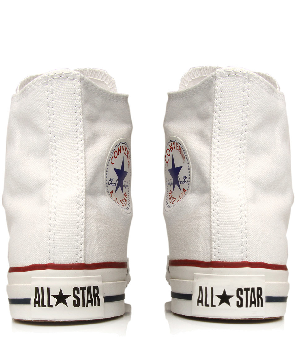 27c616f7bcff4 Converse White Chuck Taylor All Star Hi Top Trainers in White for ...