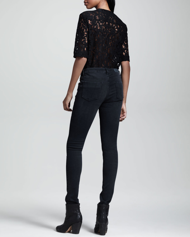 Lyst Victoria Beckham Superskinny Jeans Black In Black