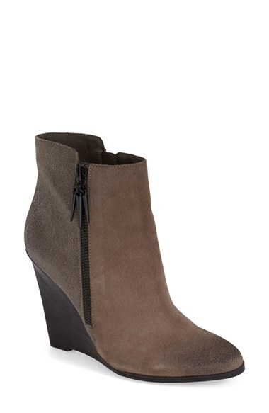 fergie wedge boots in brown lyst