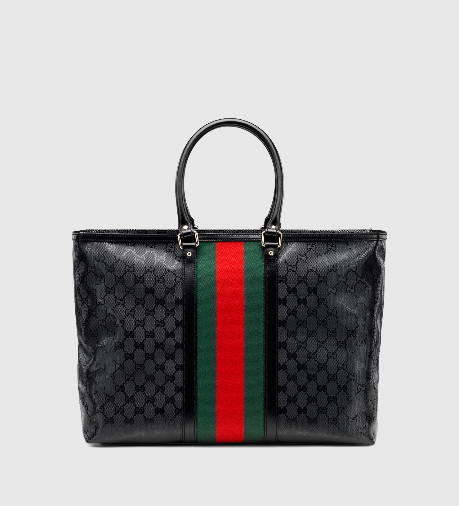 lyst gucci 500 by gg imprim tote in black. Black Bedroom Furniture Sets. Home Design Ideas
