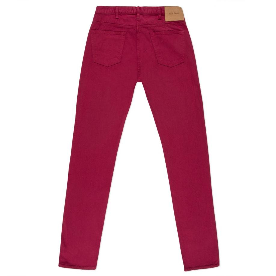 Paul smith Men's Washed Burgundy Garment-dye Jeans in Pink for Men ...