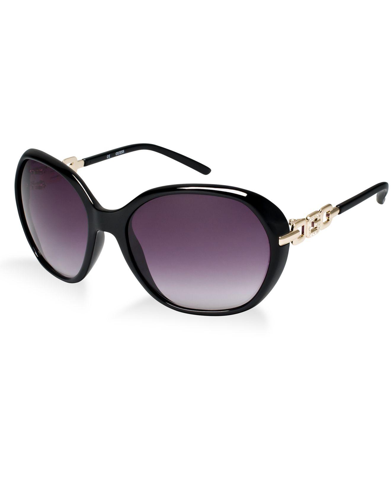 Guess Sunglasse  guess sunglasses gu 7290 in black lyst