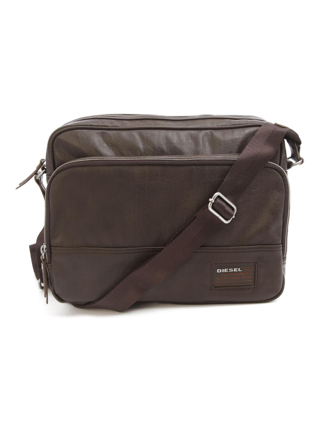 Diesel Blast Core Brown Messenger Bag In Brown For Men Lyst