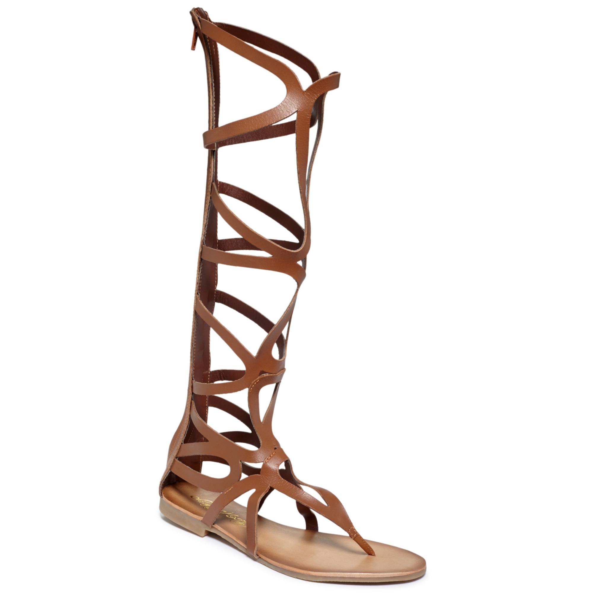 naughty monkey spartacus tall shaft gladiator sandals in brown tan lyst. Black Bedroom Furniture Sets. Home Design Ideas
