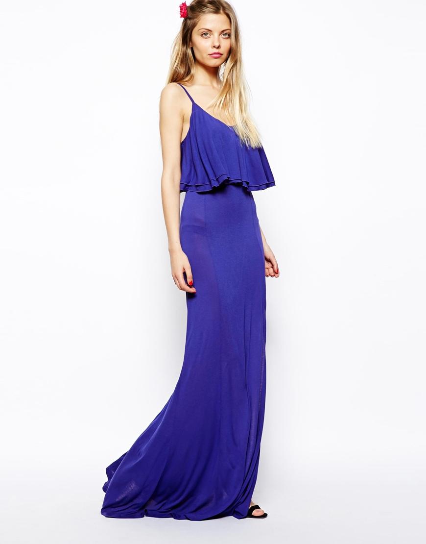 4c639e7c86c4 ASOS Maxi Dress With Crop Top in Black - Lyst