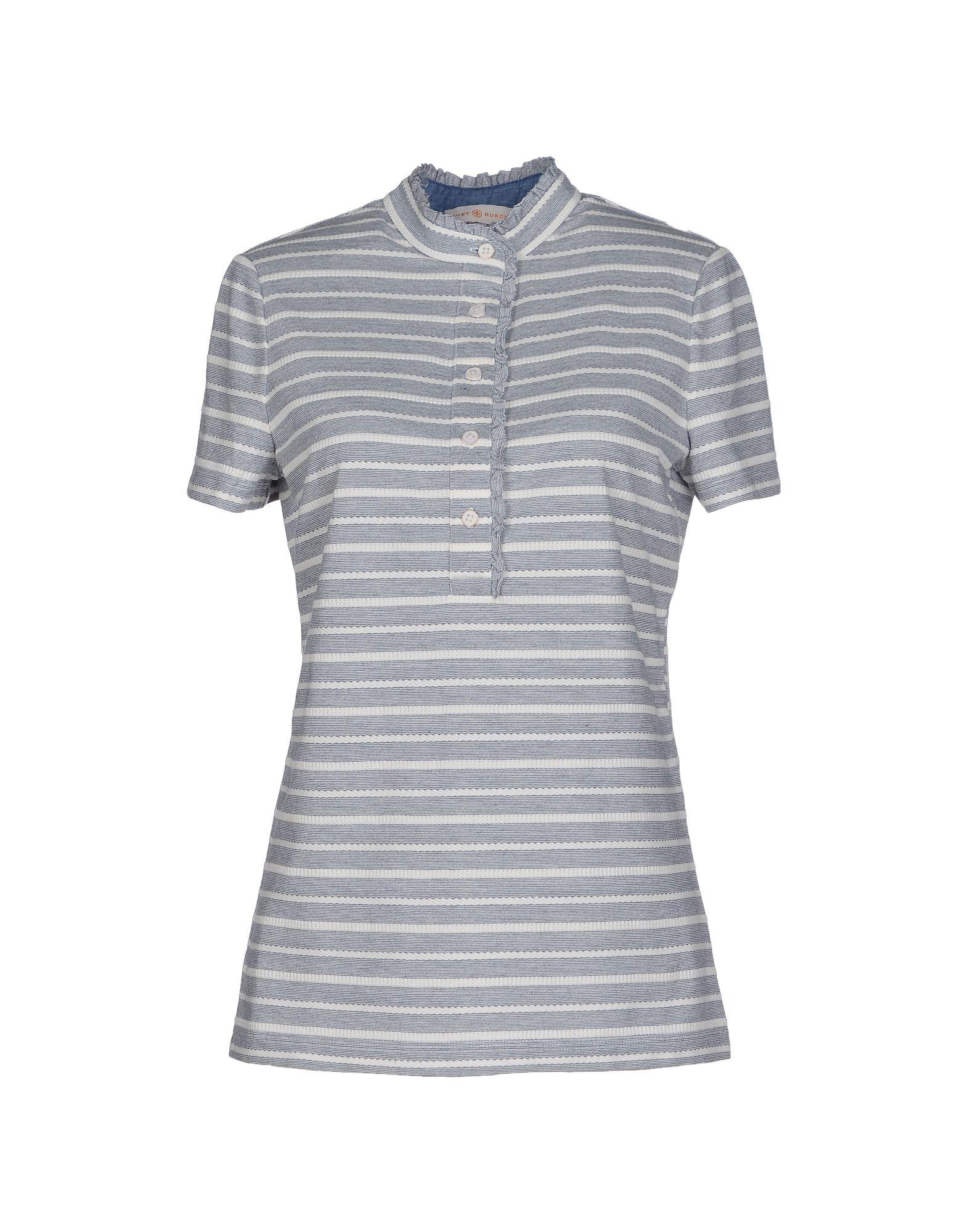 Lyst tory burch t shirt in gray for Tory burch t shirt