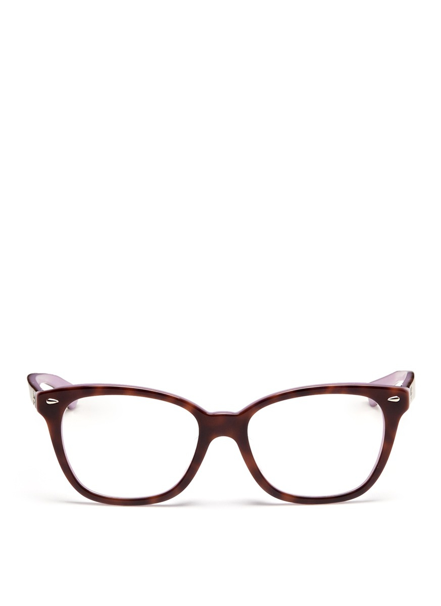 9a178619e5 Lyst - Ray-Ban Two Tone Square Cat Eye Optical Glasses