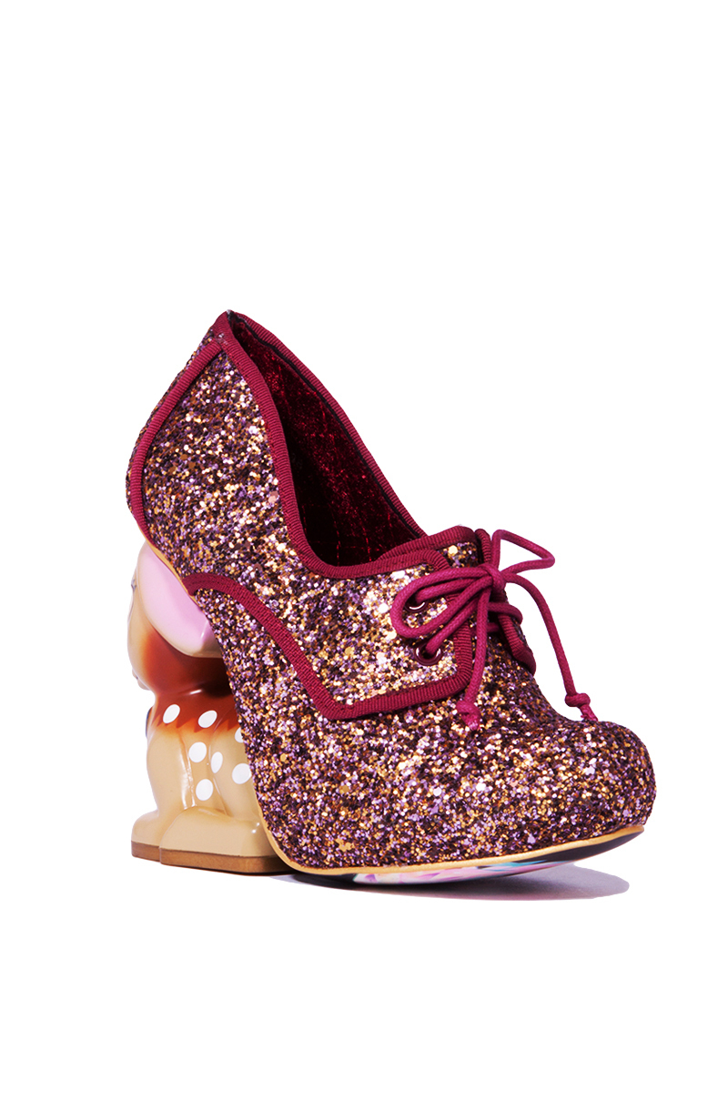 Lyst Irregular Choice Fawn Multi Glitter Wedge Heels