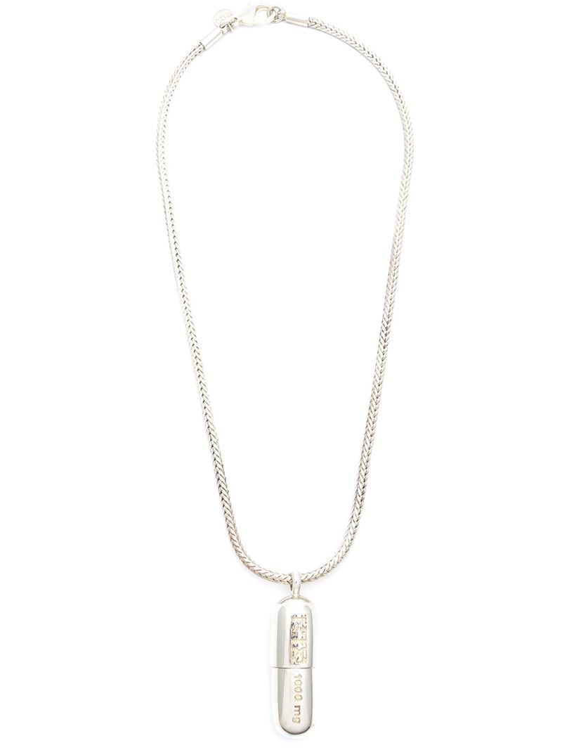 KTZ barbed wire necklace - Metallic ZjlD4O30t