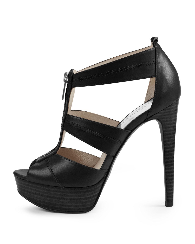 da4450e03d3 Lyst - Michael Kors Berkley Tstrap Sandal in Black
