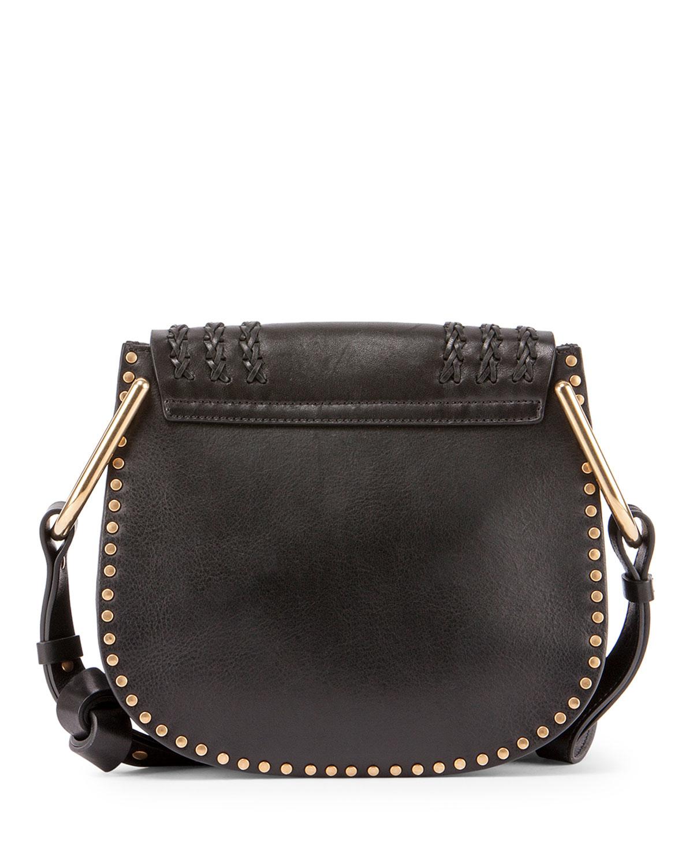 Chlo�� Hudson Medium Leather Shoulder Bag in Black | Lyst