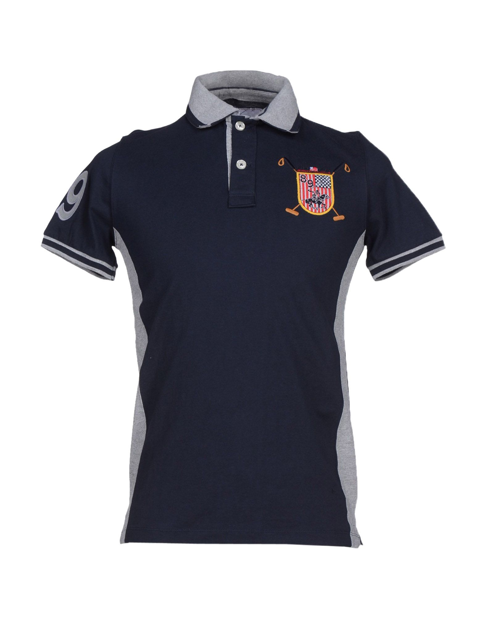 Beverly Hills Polo Club Gray Polo Shirt For Men Lyst