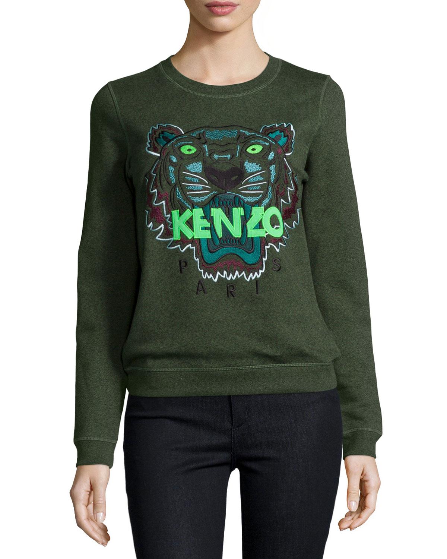 b7acd219 KENZO Iconic Tiger Cotton Pullover Sweatshirt - Lyst