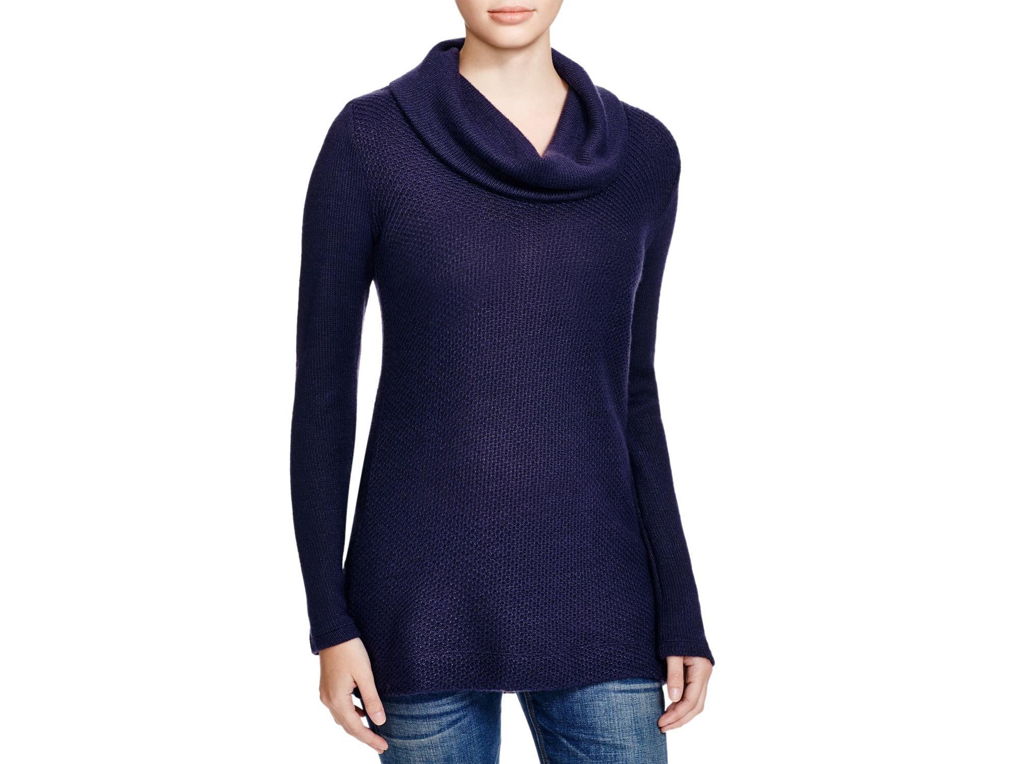 Splendid Whistler Cowl Neck Sweater in Blue | Lyst
