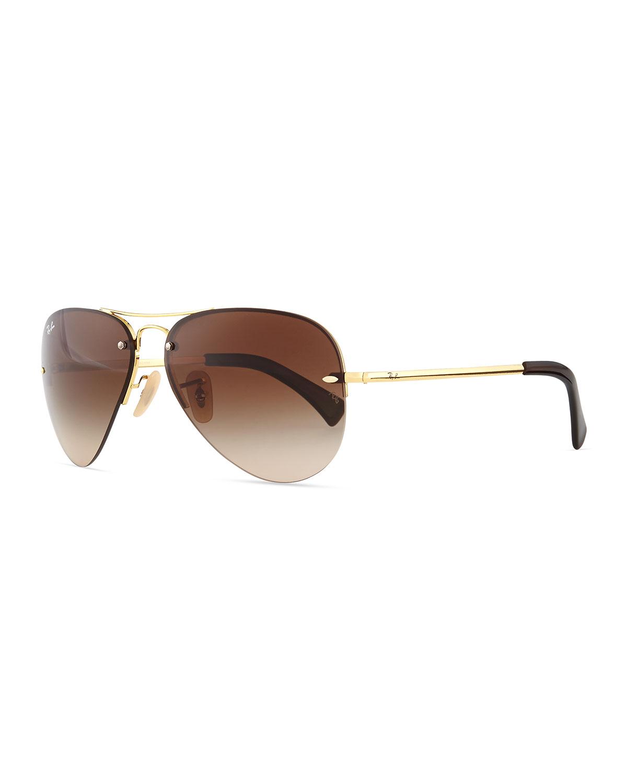 ray ban semi rimless polarized sunglasses  gallery