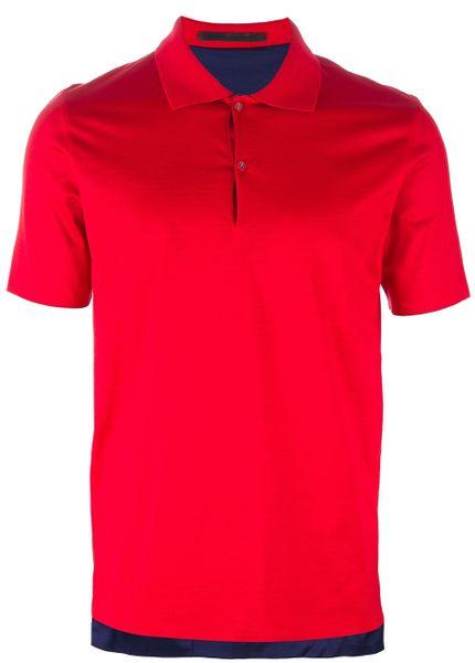 Balenciaga reversible polo shirt in red for men lyst for Balenciaga t shirt red
