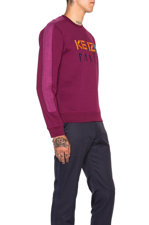 Kenzo men 39 s tech brushed molleton in purple lyst for Royal purple mens dress shirts